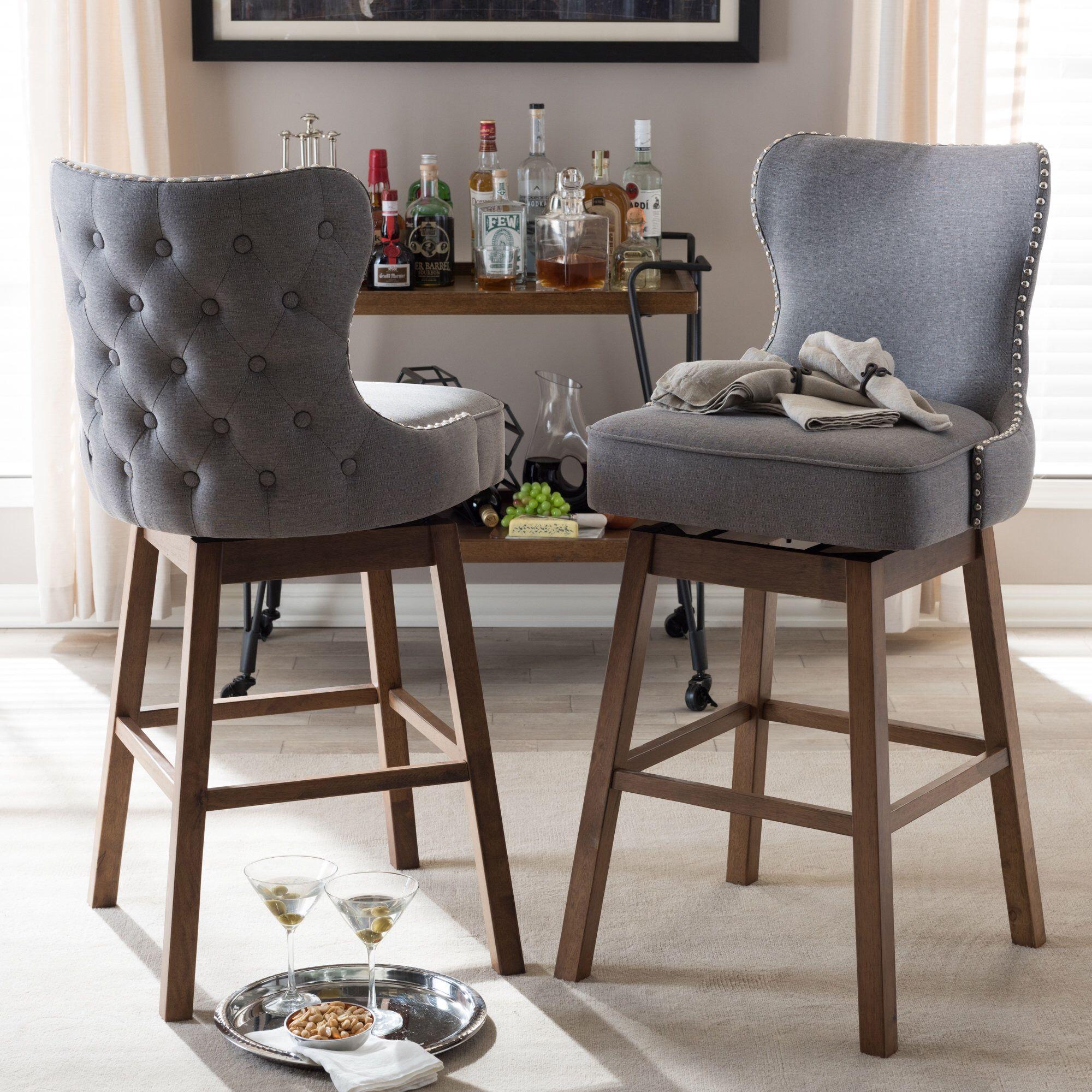 Pleasing Alfson 31 Bar Stool Home Bar Stools Swivel Bar Stools Creativecarmelina Interior Chair Design Creativecarmelinacom