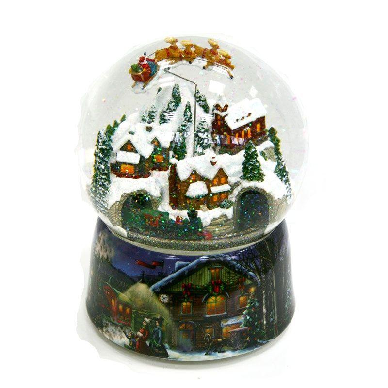 Kula Sniezna Pozytywka Ruchome Wnetrze Mikolaj Nad 6975473905 Oficjalne Archiwum Allegro Snow Globes Christmas Snow Globes Winter Snow Globe