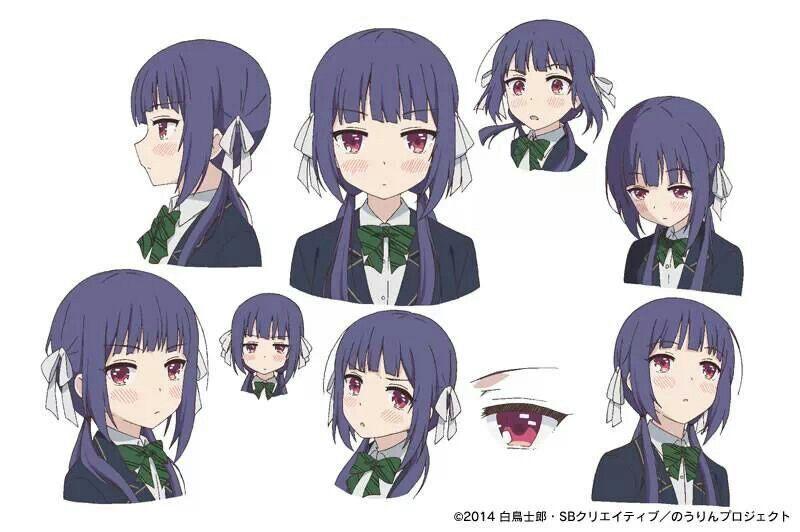 nourin 設定画 顔 描き方 キャラクターデザイン