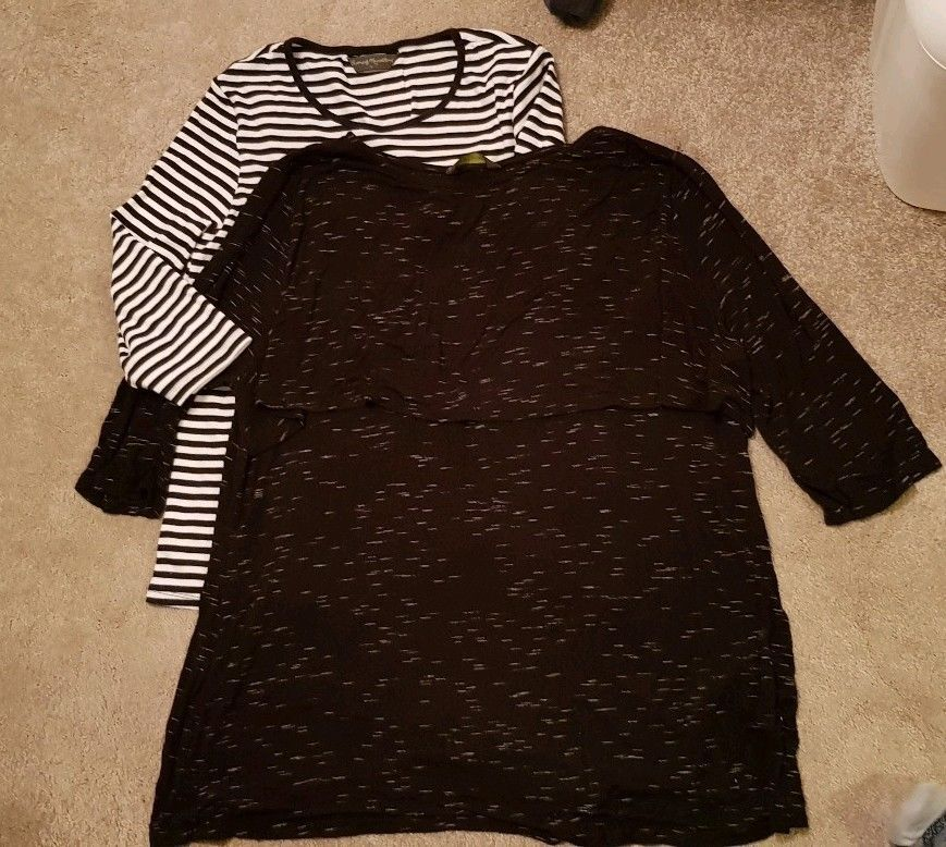 15650e44c845a 2 X Mothercare Nursing Breastfeeding Tops 1 X Large 1 X Extra Large  #fashion #clothing #shoes #accessories #womensclothing #maternity (ebay  link)