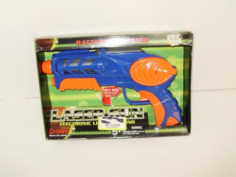 Toy Laser Gun Pistol Boley Electronic Lights Sound Boys Girls Age 5 Blue Orange…