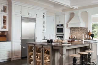 Cherry Peppercorn Ebony Glaze Island Love Kitchen Cabinets Reviews Custom