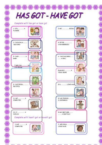 have got has got exercises pdf primary school pinterest. Black Bedroom Furniture Sets. Home Design Ideas