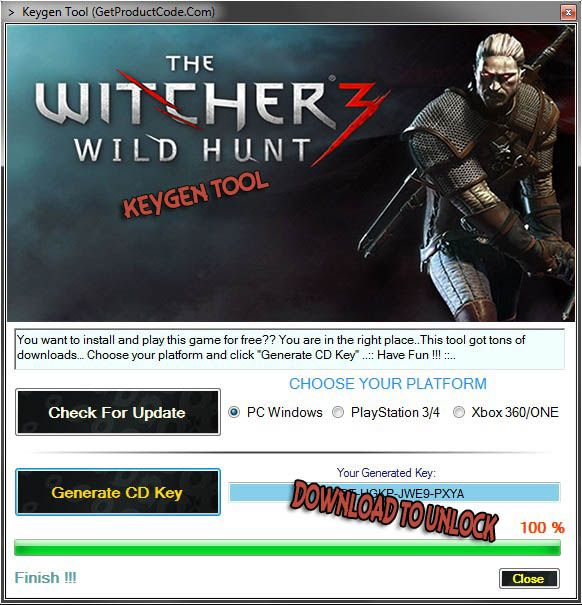 The Witcher 3: Wild Hunt Free CD KEY | Free Game Keygens and