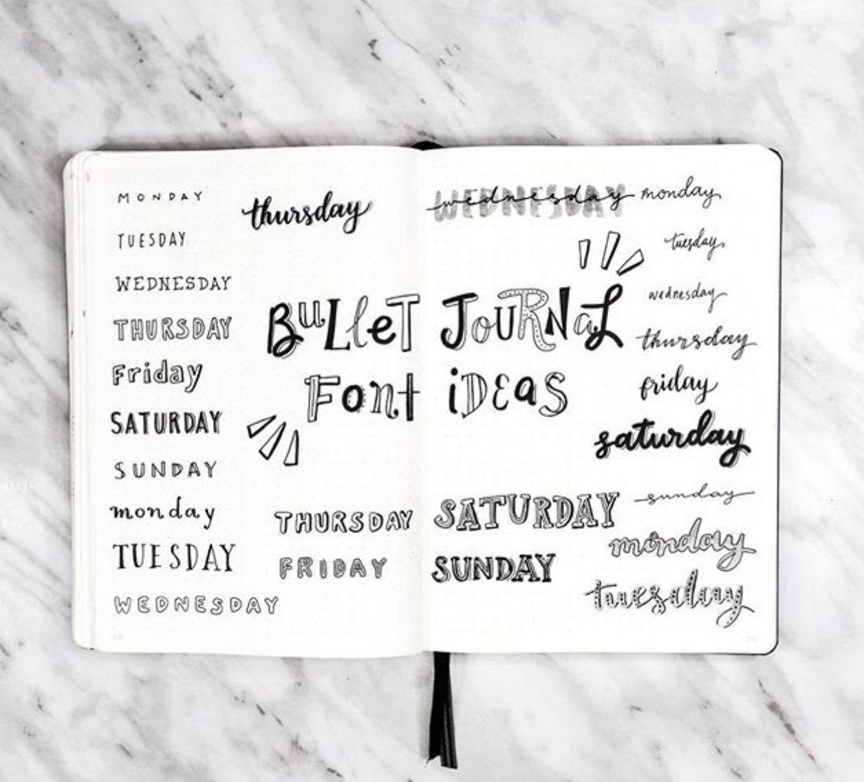 Bulletjournal font ideas by @amandarachlee #bulletjournal