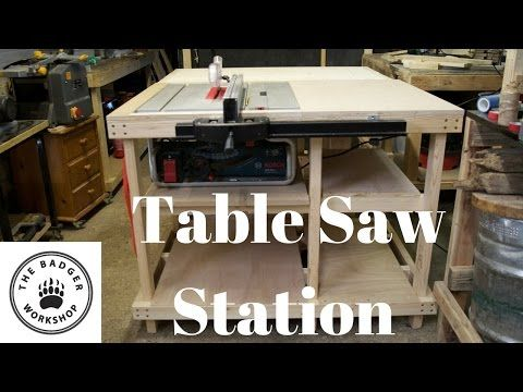 Table Saw Station For Bosch Gts 10 J With Axminster Fence Youtube Table Saw Station Table Saw Bosch Table Saw