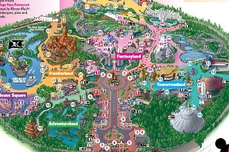 Printable Map Of Disneyland Disney Pinterest Disneyland Map