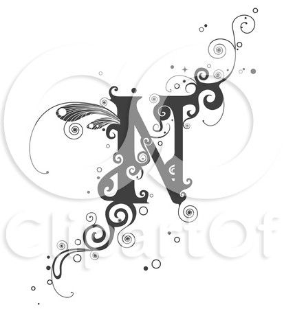 Permanent Link To Letters With N Design Tattoo 5 Tattoos