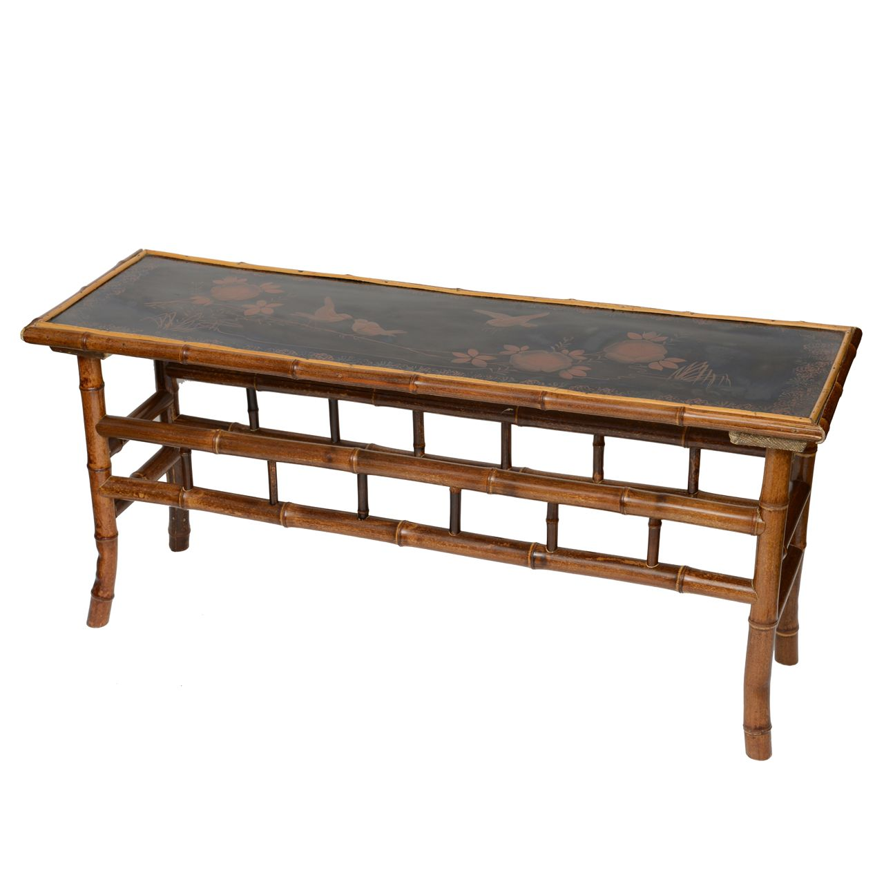 19th C English Bamboo Low Coffee Table From A Unique Collection Of Antique And Modern Coffee And Cocktail Tab Low Coffee Table Bamboo Furniture Coffee Table