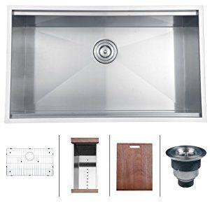 16 Gauge Undermount Kitchen Sink Ruvati rvh8300 undermount ledge 16 gauge 32 kitchen sink single ruvati rvh8300 undermount ledge 16 gauge 32 kitchen sink single bowl amazon workwithnaturefo