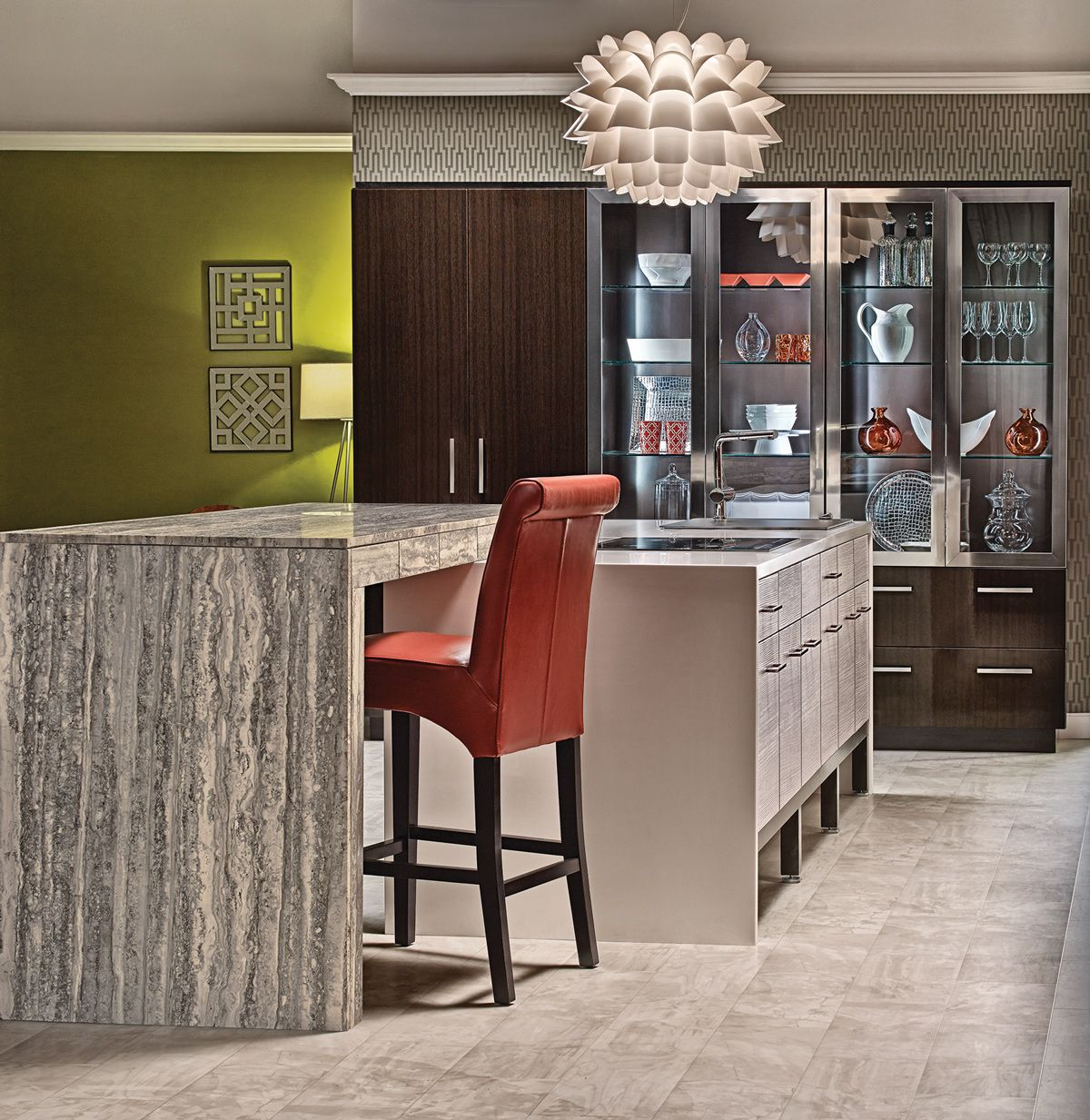 Superb Luxurious Finishes Including Aluminum Frame Cabinet Doors In Chrome Finish  And Aluminum Frame Base System In