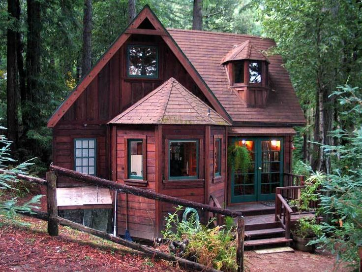Want to try tiny house living how about renting something for Log cabin builders in california