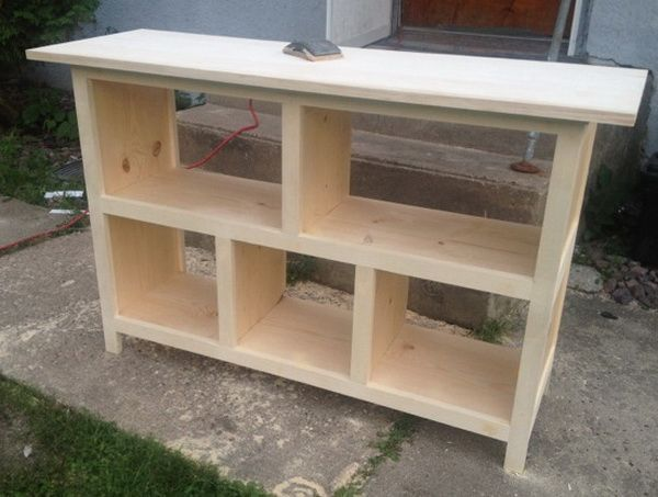 How To Build A Sofa Table Easy Diy Step By