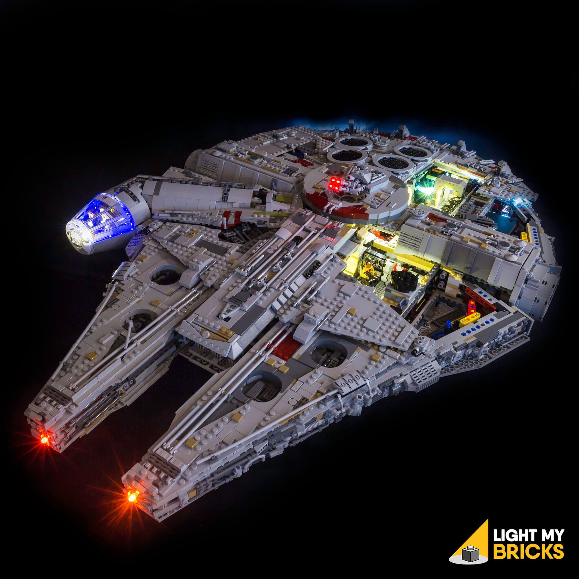 Lego Star Wars Ucs Millennium Falcon 75192 Light Kit Millennium Falcon Led Light Kits Lego Lighting