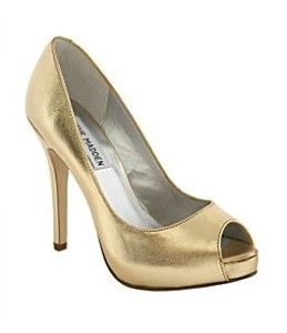 1000  images about Gold peep toe pumps on Pinterest