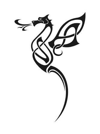 6b53450ac Dragon .. with the wings forming the letter K | Tattoo | Celtic ...