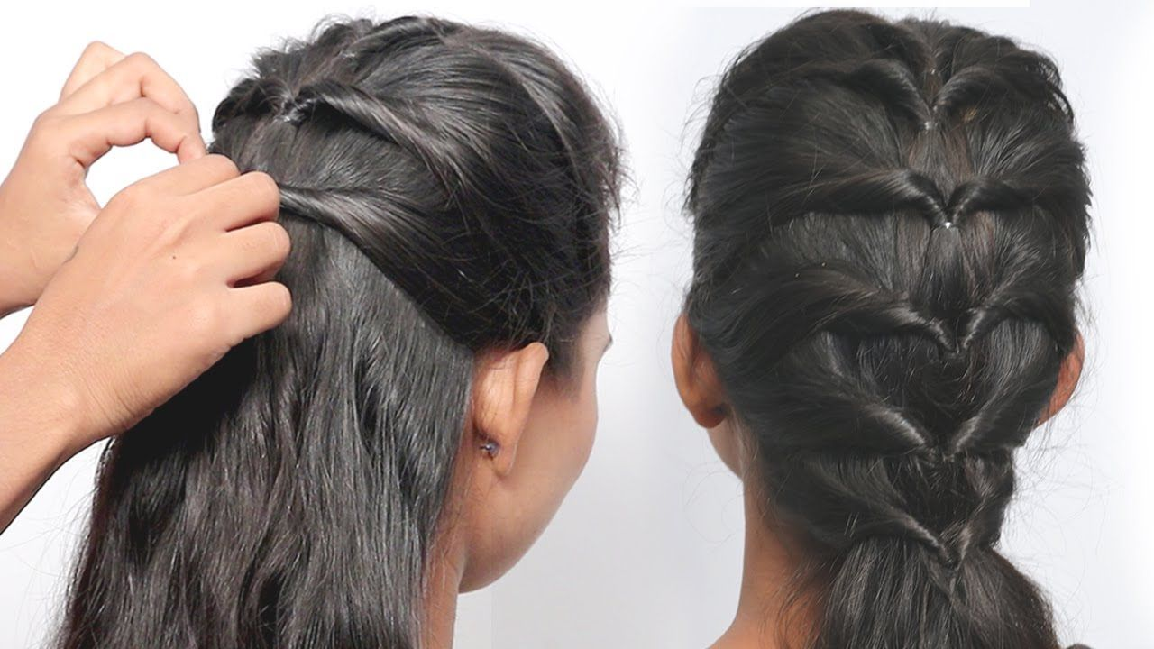 Easy Party Hairstyle 2019 For Girls Hair Style Girl Hairstyles Bes Easy Party Hairstyles Hair Styles Cool Hairstyles