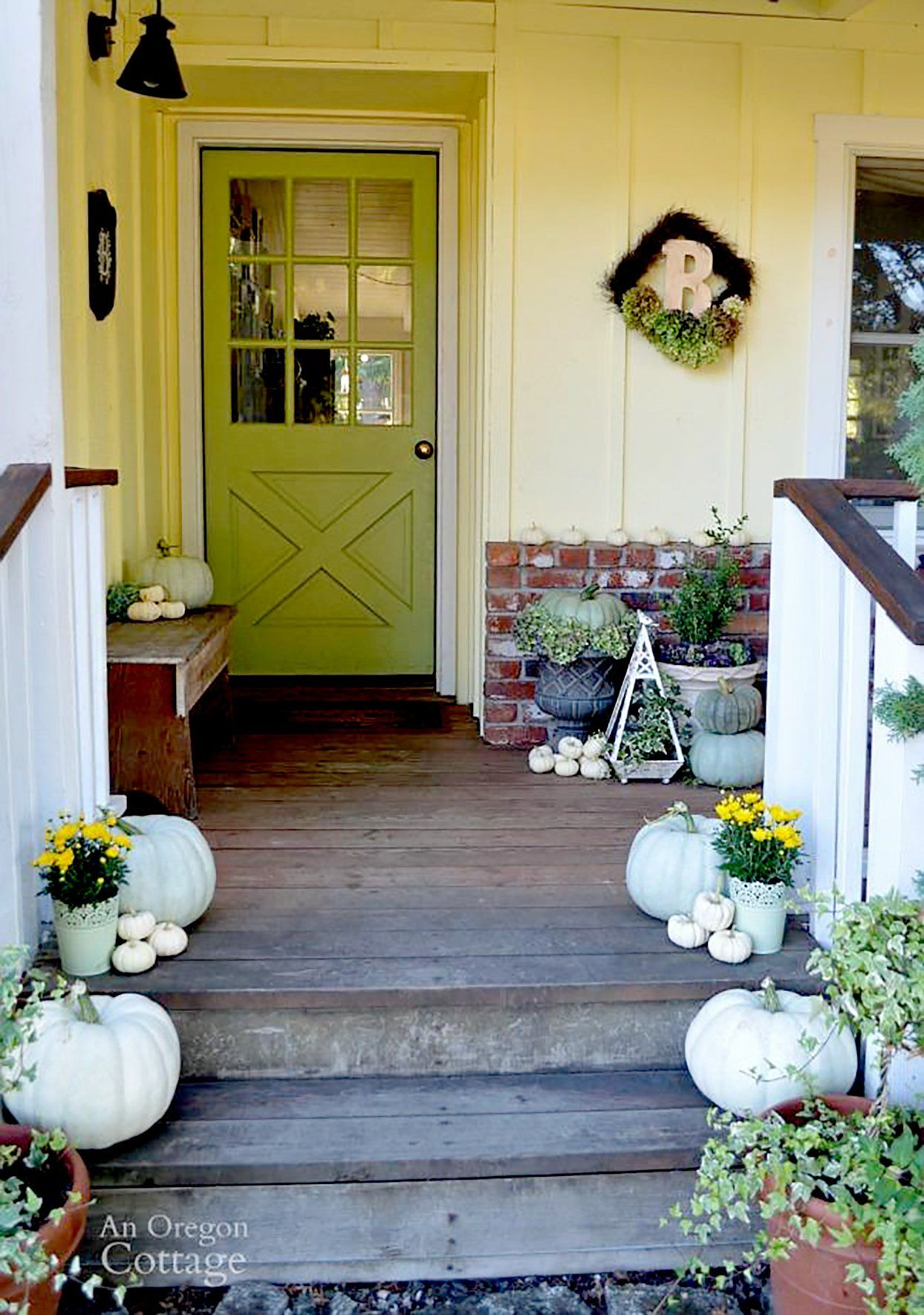 12 Inspirations For Home Improvement With Spanish Home Decorating Ideas: Fall Porch, Fall Front Porch, House With Porch