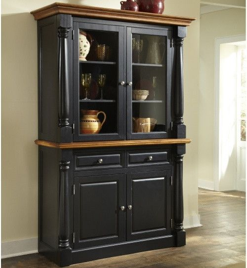 home styles monarch china cabinet black oak china cabinets at rh pinterest com  black dining room hutch china cabinet