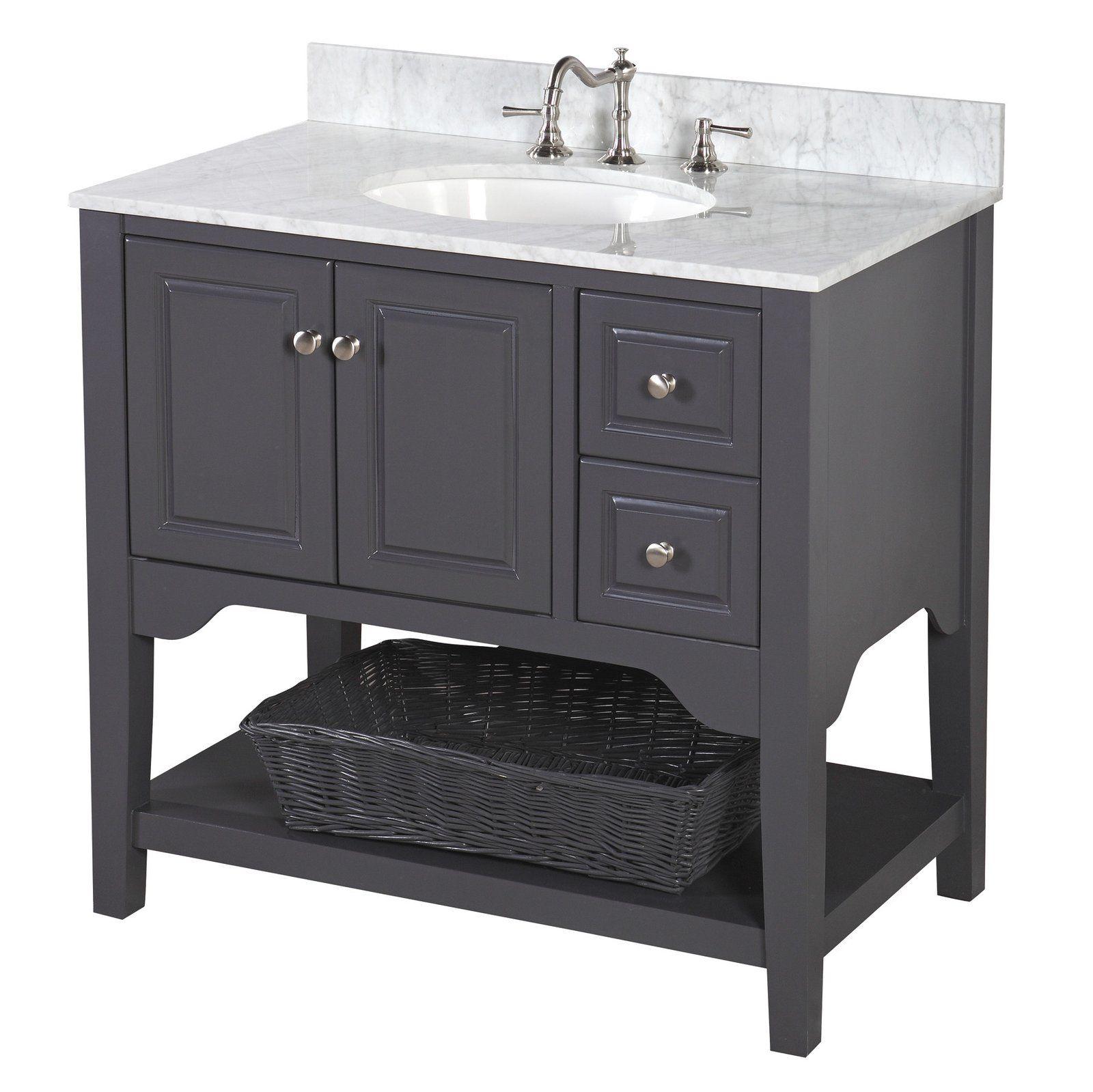 Washington 36 Inch Vanity With Carrara Marble Top Bathroom Vanity Single Bathroom Vanity 36 Inch Bathroom Vanity 36 inch black bathroom vanity
