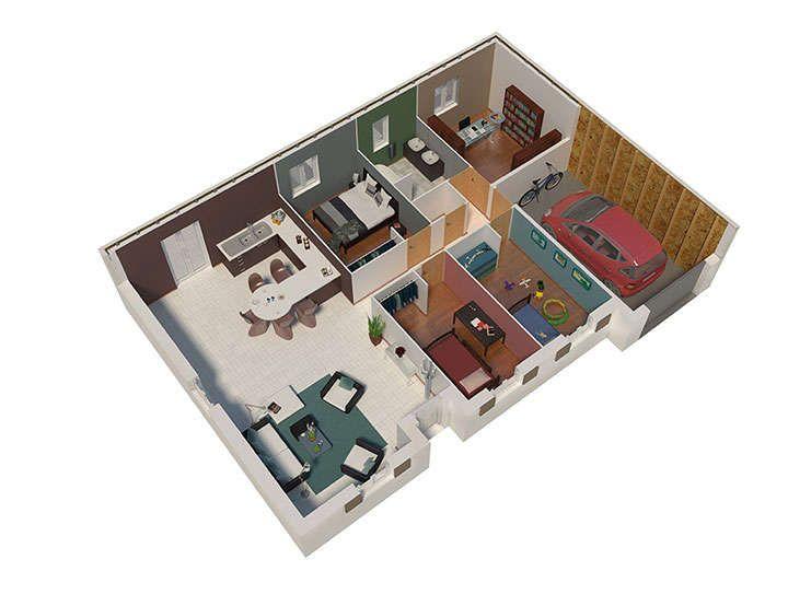 maison ossature bois plan natizen 01 natilia maison Pinterest