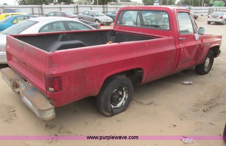 Image For Item I9557 1985 Gmc Sierra 1500 Pickup Truck With Images Gmc Sierra 1500 Gmc Sierra Pickup Trucks For Sale