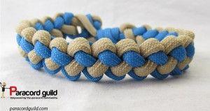 Two color zipper sinnet paracord bracelet.