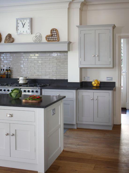 Modern shaker kitchen bespoke shaker cabinets hand painted in