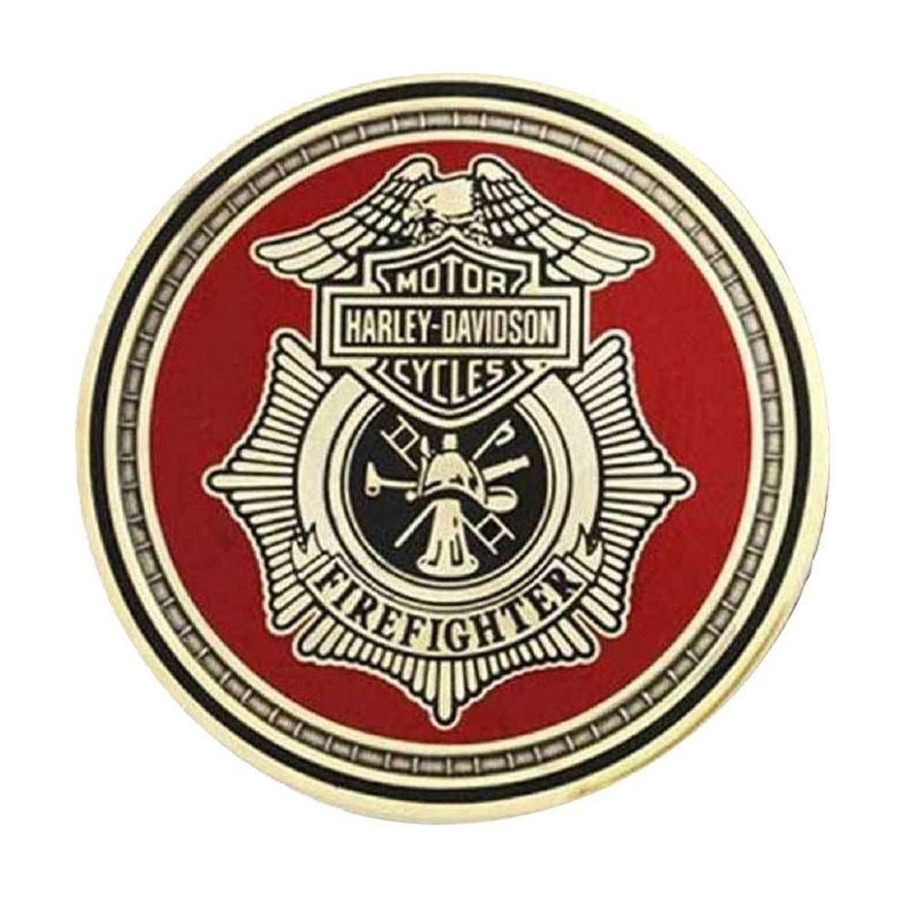Details about HarleyDavidson Firefighter First In Last