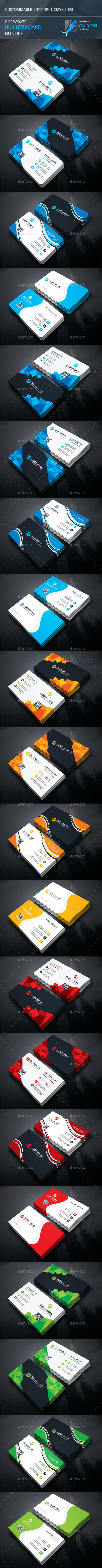 corporate business card bundle — eps template hi quality