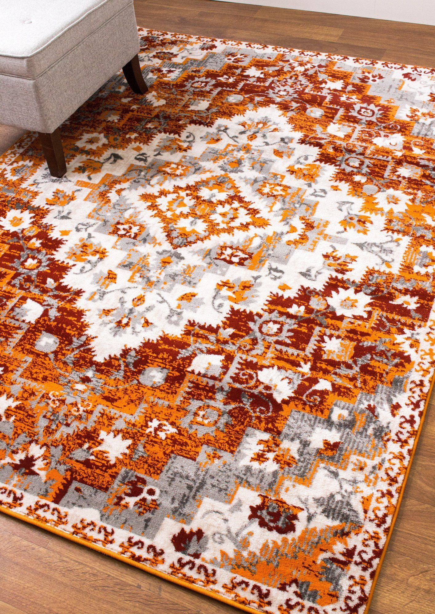 Best Southwestern Rug Burnt Orange High Traffic Carpet 400 x 300