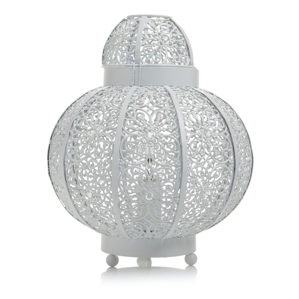 Bathroom Ceiling Lights Wilkinsons wilko beaded global plated lamp | wilko | light up your home the