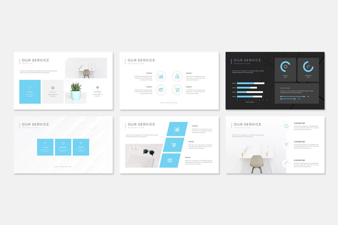 Clean Creative Portfolio Presentation PowerPoint Template