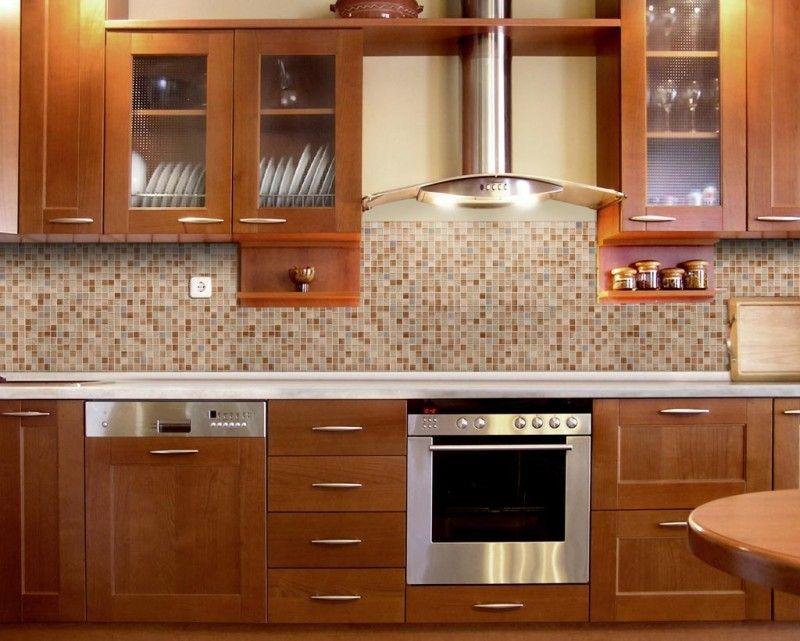 Orange DIY Backsplash Kit Peel & Stick Mosaic Tiles   DIY Backsplash ...