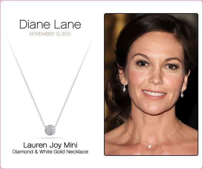 Lauren Joy Mini Diamond And White Gold Necklace