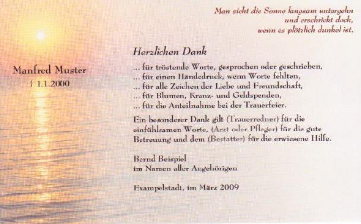 Danksagungskarte Beerdigung Sonnenuntergang Trauer Danksagungen Trauer Zitate Zum Thema Liebe Trauer