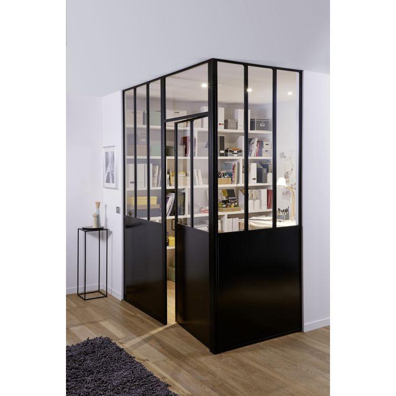 Cloison Creative Avec Soubassement Verriere Lapeyre Iziva Verrieredatelier Menuiseri Comment Decorer Son Appartement Cloison Separation Cuisine Salon
