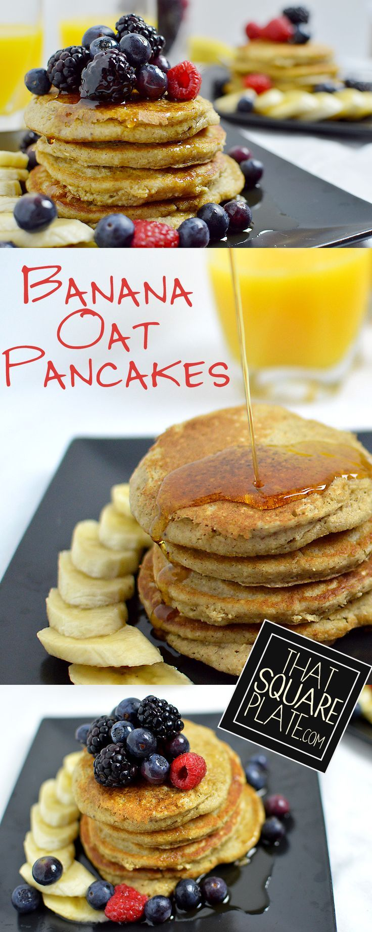 Banana Oat Pancakes | Recipe