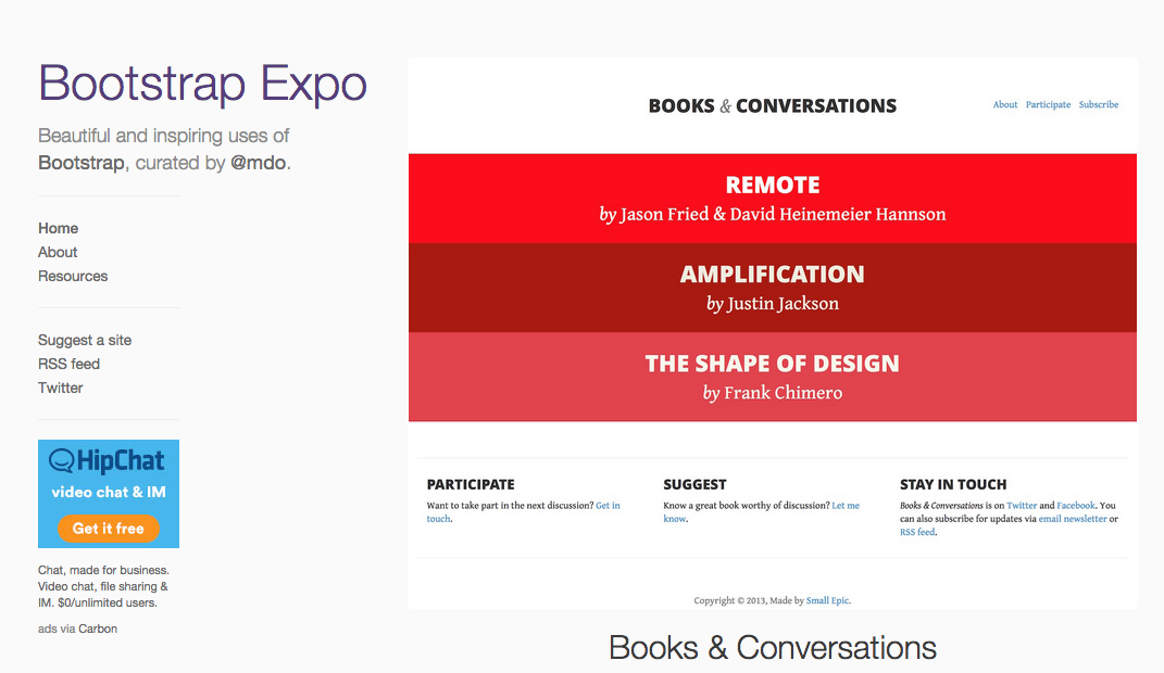 http://expo.getbootstrap.com/