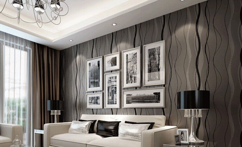 Modern Feature Wallpaper For Living Room Living Room Decorating