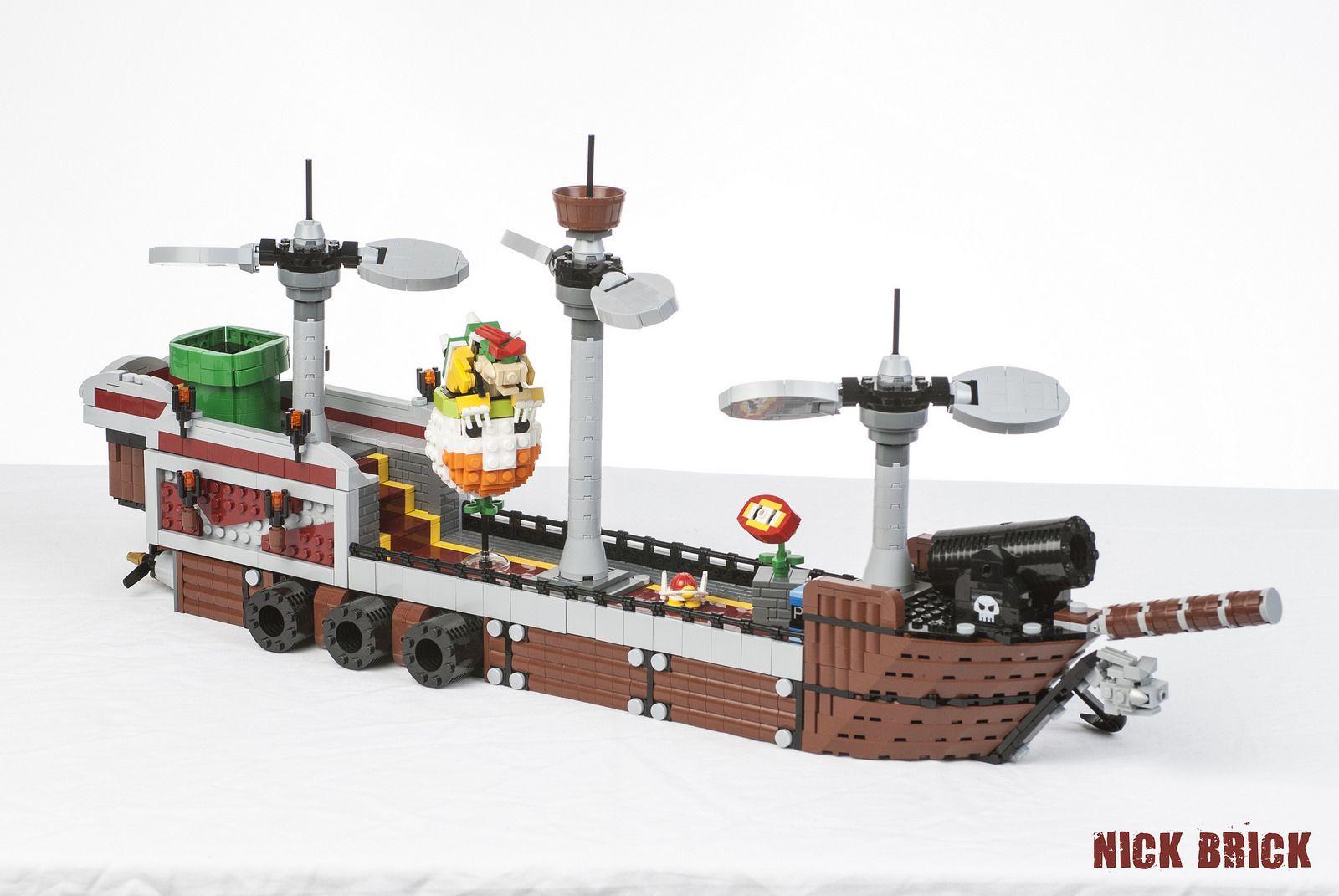 Gamerfleet Bowser S Airship Bowser Lego Mario Lego Moc