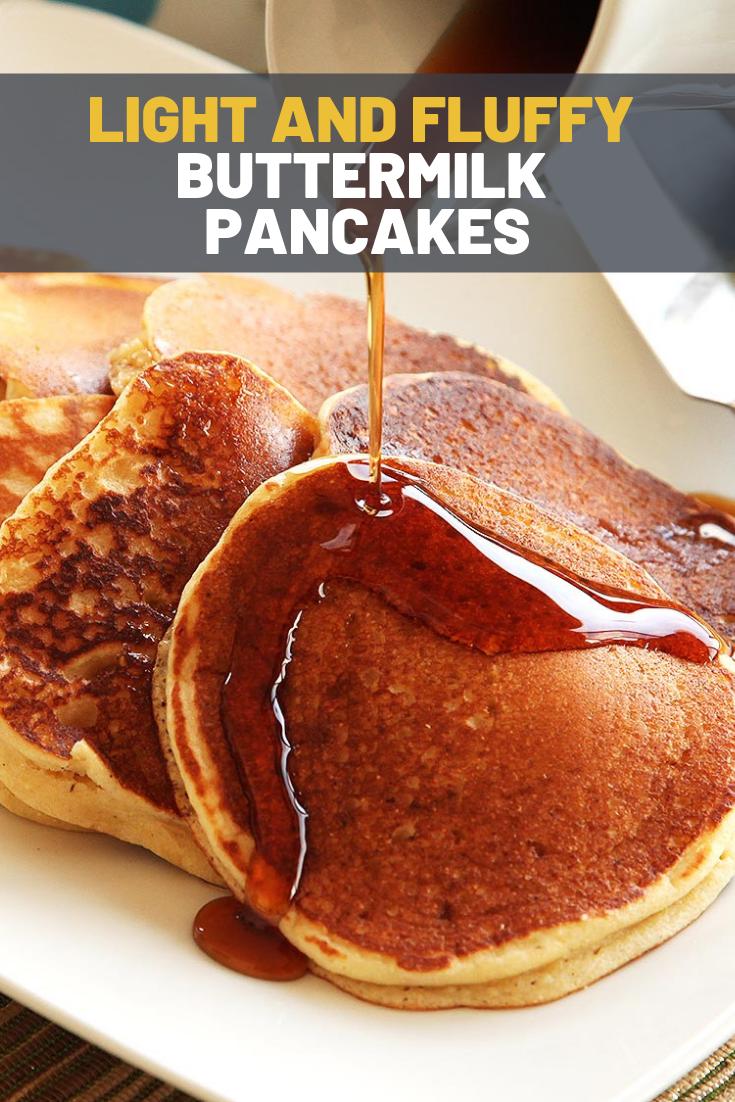 Light And Fluffy Buttermilk Pancakes Recipe Recipe Buttermilk Pancakes Fluffy Buttermilk Pancakes Fluffy Buttermilk Pancake Recipe