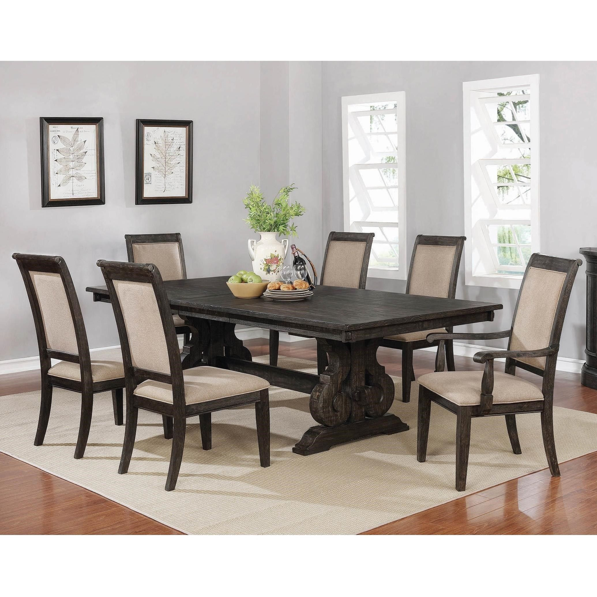 Whitney 7 Piece Table And Chair Set By Coaster At Northeast Factory Direct Dining Table Black Dining Table Chairs Dining Table