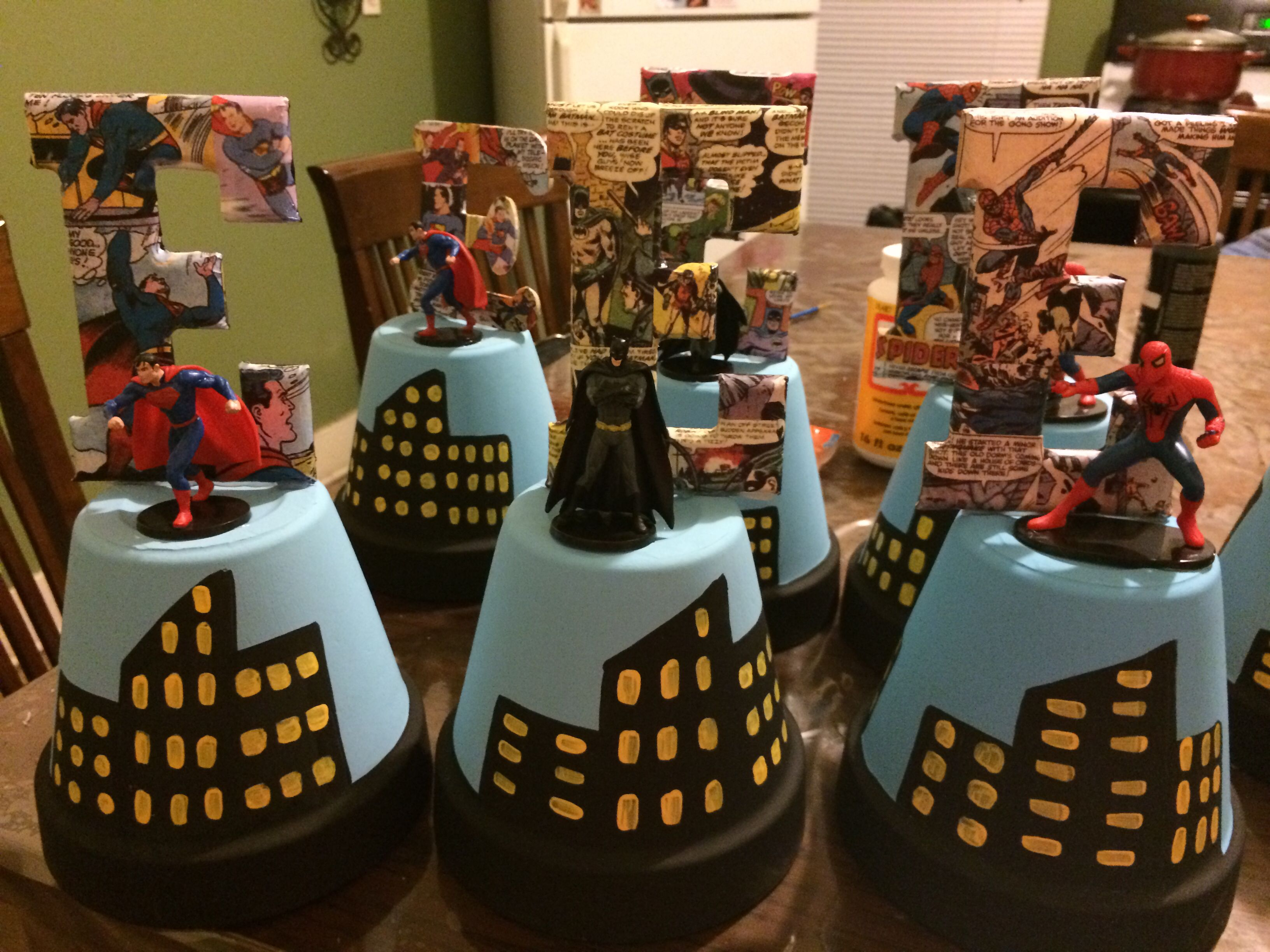 Superhero Party Centerpieces Stuff I Have Made Pinterest