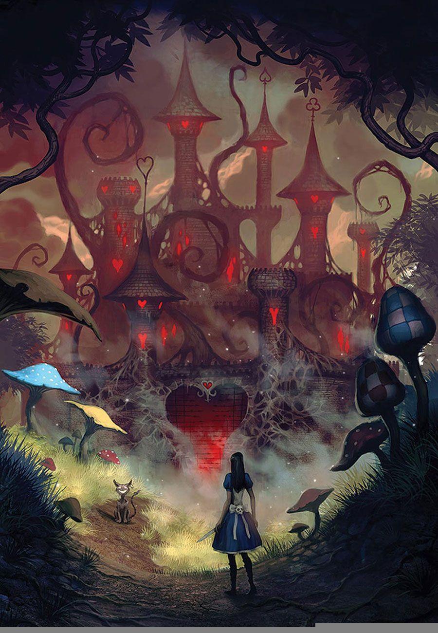 Red Queen S Castle Characters Art Alice Madness Returns Regina Di Cuori Gatto Del Cheshire Arte Di Fantascienza