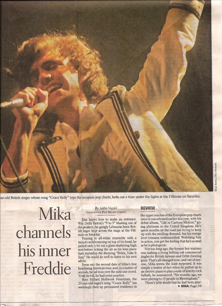 Mika channels his inner Freddie