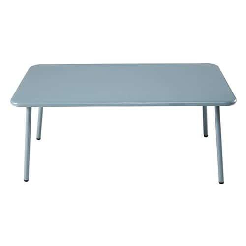 Table basse de jardin rectangulaire en métal bleu clair | Gardens