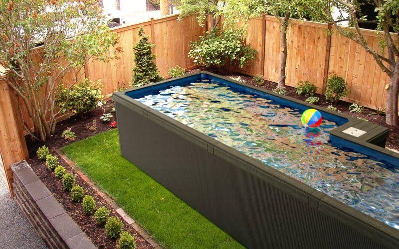 Little Pool Co Refresh Plunge Pool In A Backyard Container Pool Best Above Ground Pool Plunge Pool
