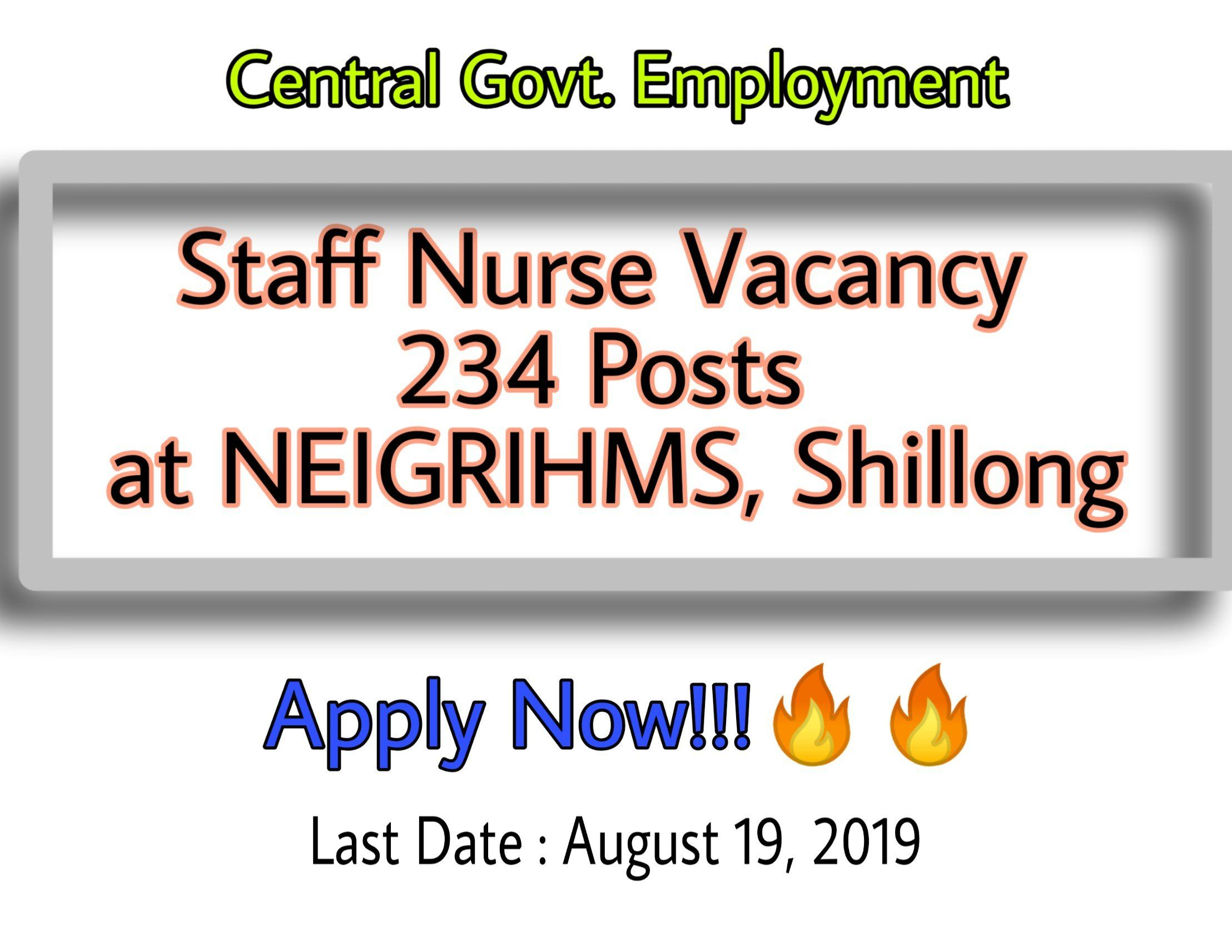Staff Nurse Vacancy at NEIGRIHMS Shillong The Nurse Page