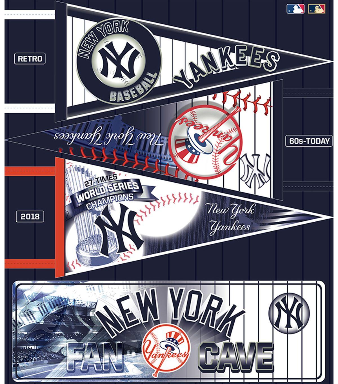 New York Yankees Felt Fabric Panel 36 Pennant Felt Fabric New York Yankees Fabric Panels